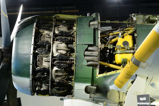 キ84 左舷発動機まわり