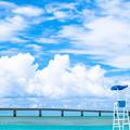 写真: 宮古島 トゥリバー海浜公園にて