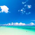 写真: 下地島 空港脇のビーチ