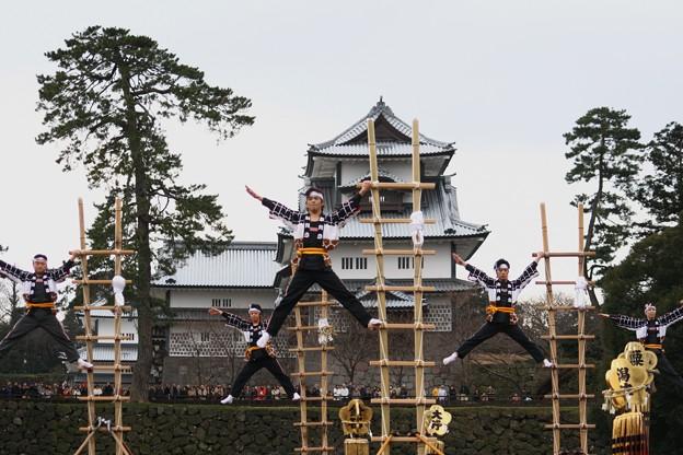加賀とび「敬礼2」 金沢市消防出初式