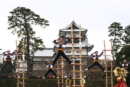 加賀とび (3) 金沢市消防出初式