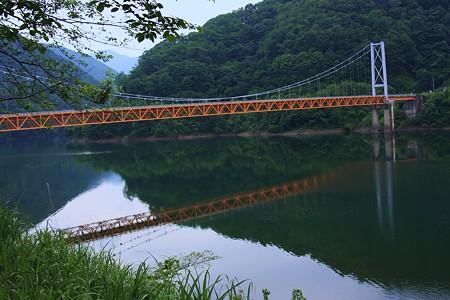九頭竜湖と夢の架け橋(箱ヶ瀬橋)