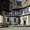 写真: 街並み「木組みの家」