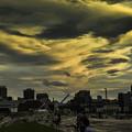 写真: 黄昏時