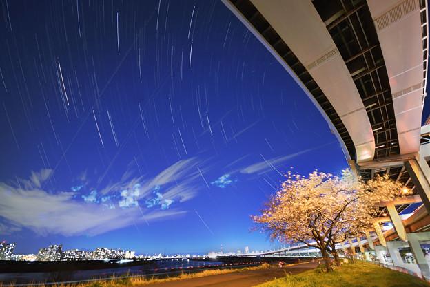 東京の星空「荒川土手」