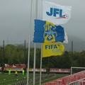 写真: こちらの試合会場も半旗。 #碧めも