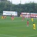 写真: 因みに赤がHonda FC、黄が東京武蔵野シティFC。 #碧めも