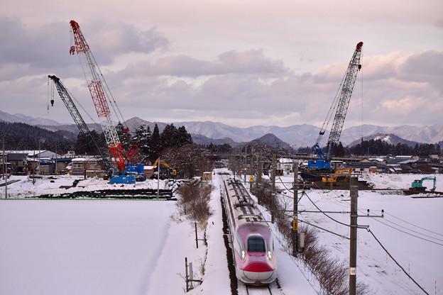 斉内川橋梁架け替え工事中2