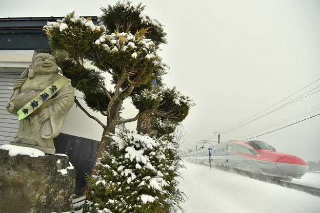 写真: 寒くても交通安全