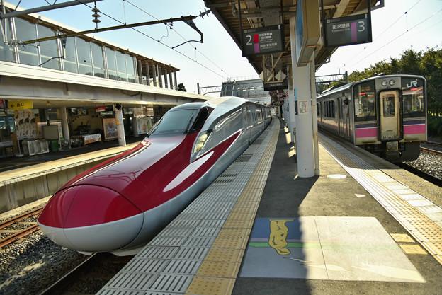 普通電車と交換