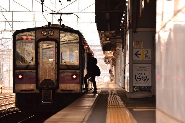 年末の秋田駅