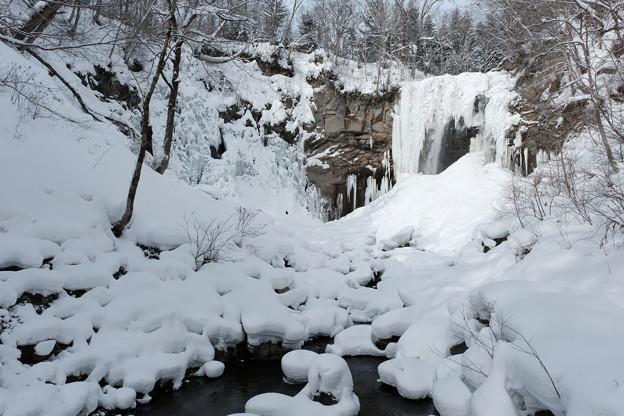 アシリベツの滝の氷瀑4