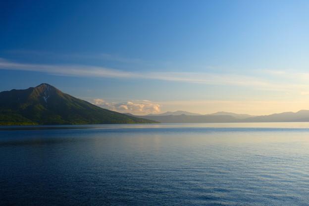夕暮の支笏湖1