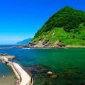 写真: 積丹ブルーの海水浴場