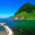 積丹ブルーの海水浴場