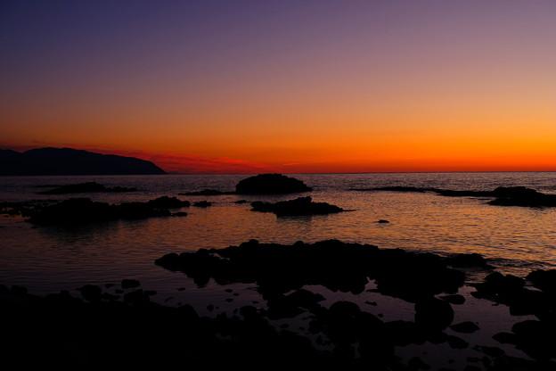 写真: 黄金岬の黄昏その1