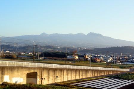 列車から見る赤城山