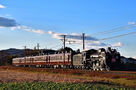 C58 363牽引秩父鉄道SL初詣号(SL PALEO EXPRESS)