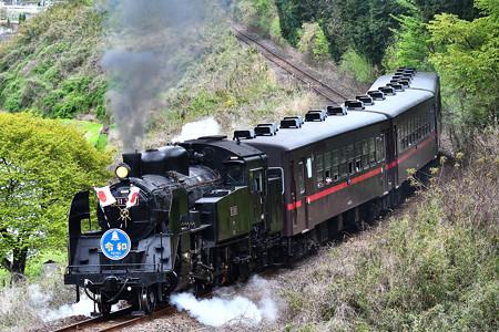 C11 325牽引SLもおか号令和HM日章旗付