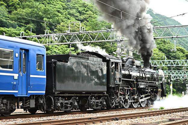 C61 20+12系客車SLぐんまみなかみ号(水上発車後追い)