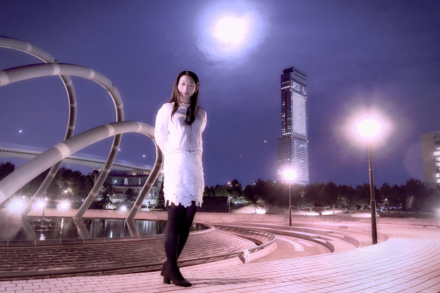 写真: Perigee full moon