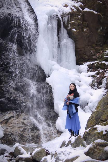 In a secret waterfall A secret waterfall
