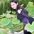 写真: Surrounded by a lotus