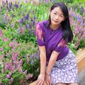 写真: The scent of purple flowers