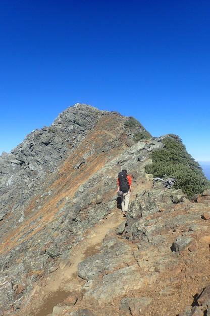 北岳第四尾根登攀(26)