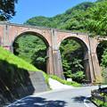 写真: めがね橋(碓井第三橋梁)