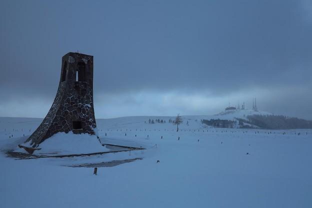 写真: 極寒の美ヶ原