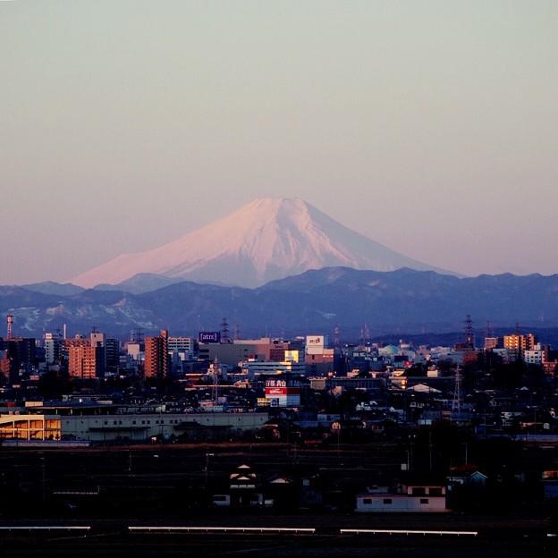 写真: 退院前日の富士山
