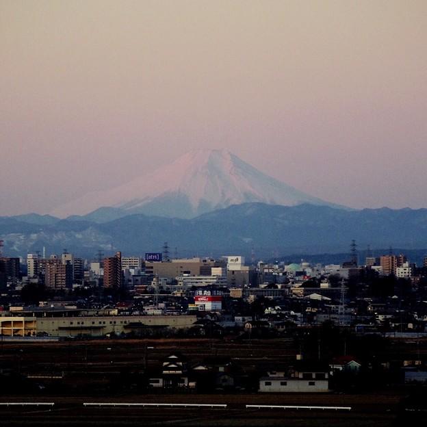 写真: 退院当日の富士山