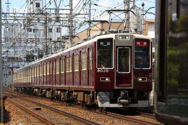阪急8000系C#8035×2R+7000系C#7023×6R