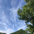 三角山と雲2
