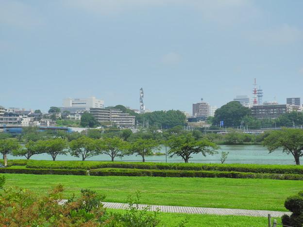 2019.07.30 茨城県近代美術館から千波湖