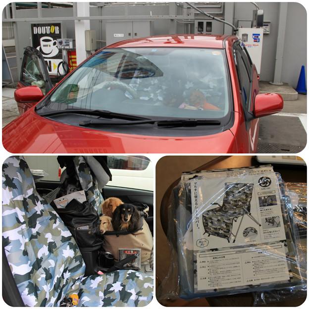 車内をお掃除して新しいシートカバーをつけたよ