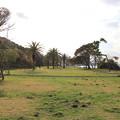 写真: お宿の前の芝生公園