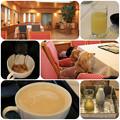 写真: グレープフルーツジュース&コーヒー
