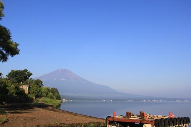 山中湖へ朝ん歩