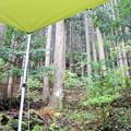 写真: 雨キャンプ