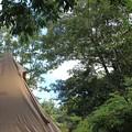 写真: いいお天気でテントもよく乾きそう
