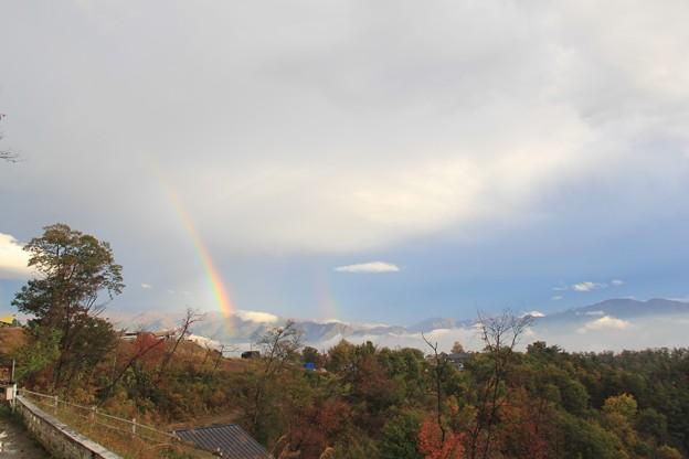 虹がダブルで