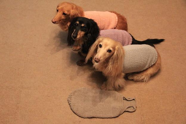 手編みのキャミソール