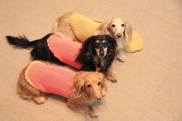 ママの手編み可愛いでしょ