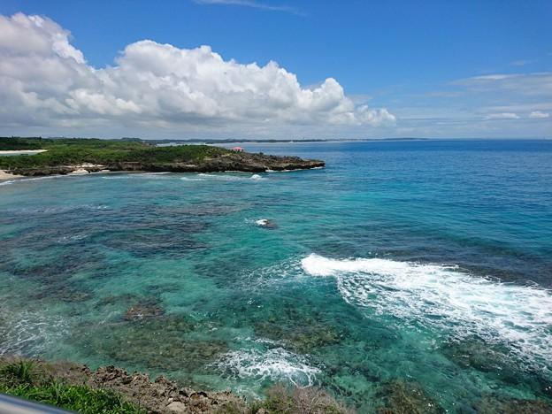 宮古島にて。海が綺麗!