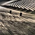 写真: 木目のさざ波