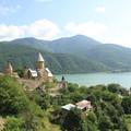 Photos: 2609 湖畔の要塞教会@ジョージア
