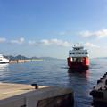 爽やかな高松港の朝
