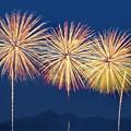 写真: 二上山とPLの花火